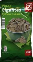 Semillas de girasol con cáscara tostadas con sal gigantes - Producte - es
