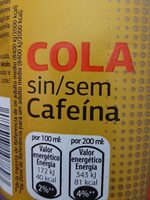 Coca cola sin cafeína - Producto - es