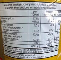 Coca cola sin cafeína - Información nutricional - es