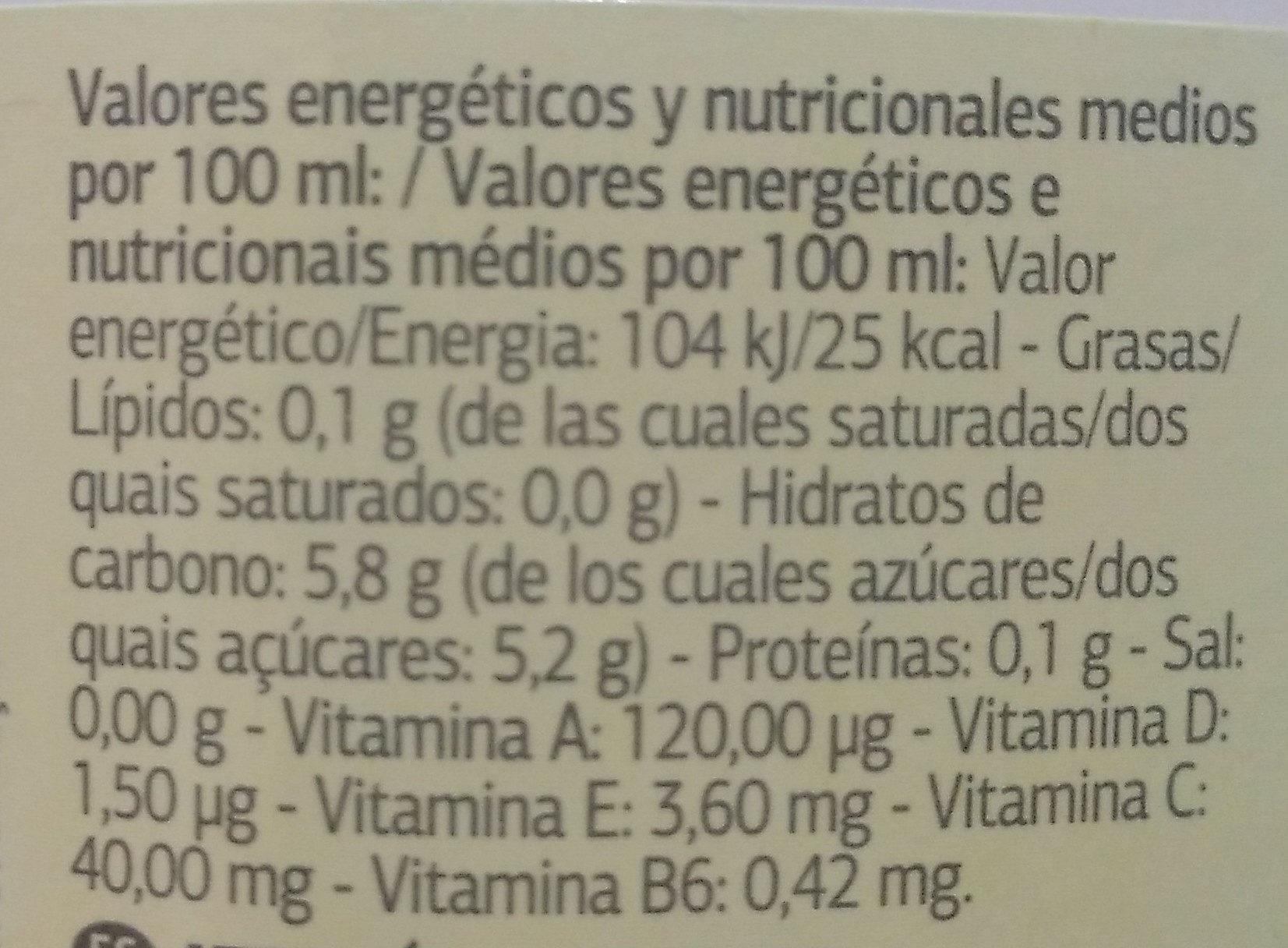 Florida - Informations nutritionnelles - es