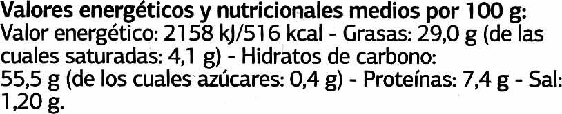 DELICIOUS Patatas fritas con aceite de oliva - Información nutricional - es