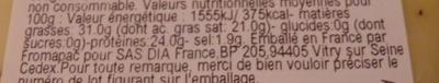 Gouda au Cumin (31 % MG) - Voedingswaarden - fr
