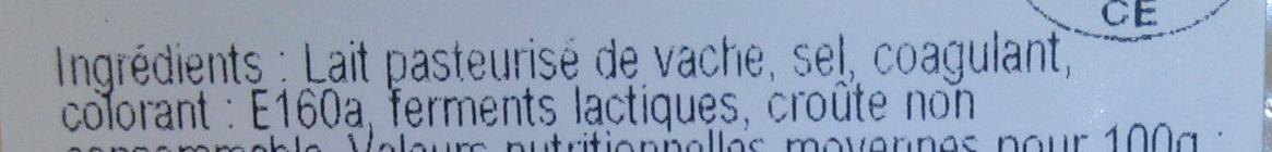 Edam (24% MG) - Ingredients - fr