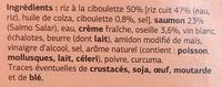 Saumon à l'oseille riz à la ciboulette - Inhaltsstoffe