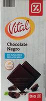 Chocolate negro sin azúcares - Product