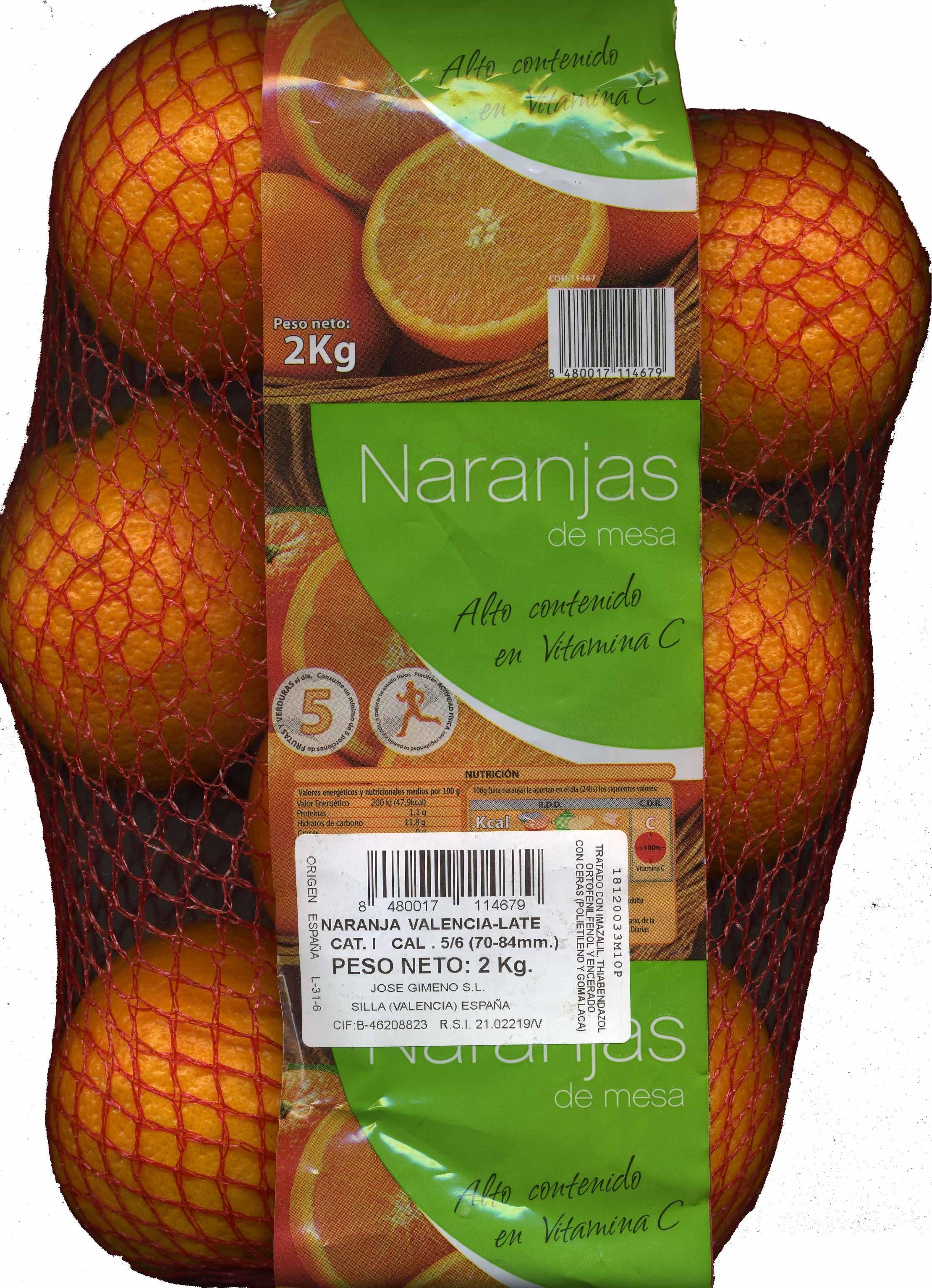Naranjas de mesa - Producto - es