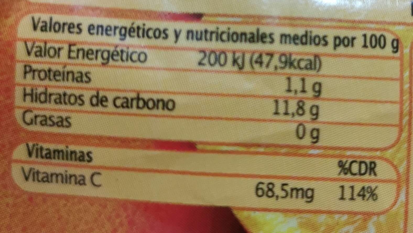 Naranjas - Información nutricional - es