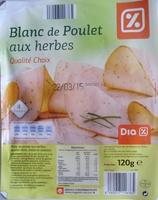 Blanc de Poulet aux herbes (Qualité Choix) 4 Tranches - Product