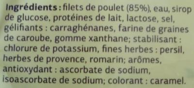 Blanc de Poulet aux herbes (Qualité Choix) 4 Tranches - Ingredients