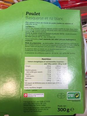 Poulet Basquaise et riz blanc - 2