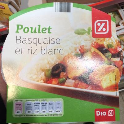 Poulet Basquaise et riz blanc - Produit - fr