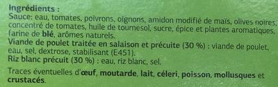 Poulet Basquaise et riz blanc - Ingrédients