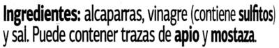 Alcaparras en vinagre - Ingredients - es