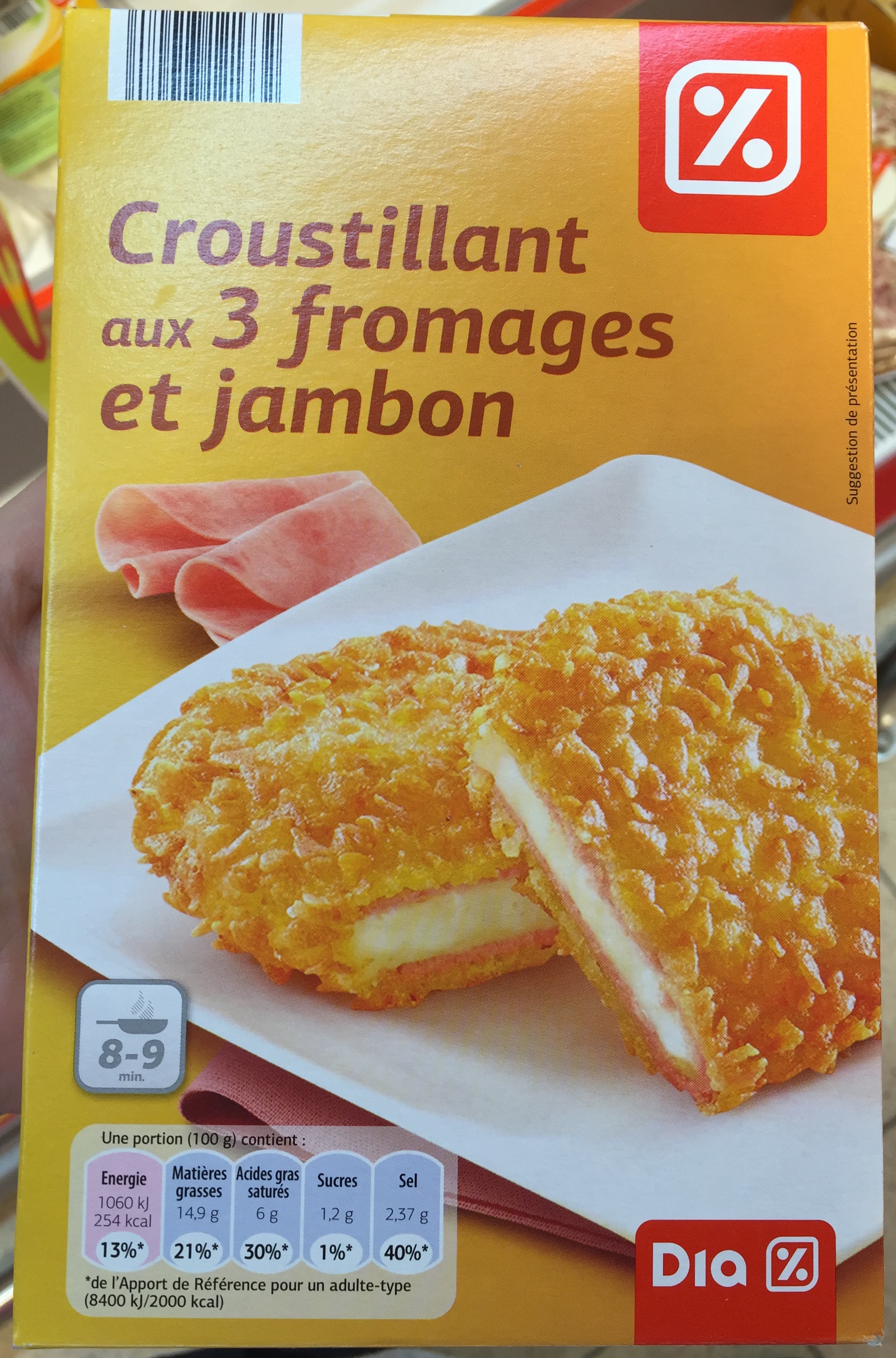Croustillant aux 3 fromages et jambon - Produit - fr