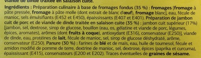 Croustillant aux 3 fromages et jambon - Ingrédients - fr