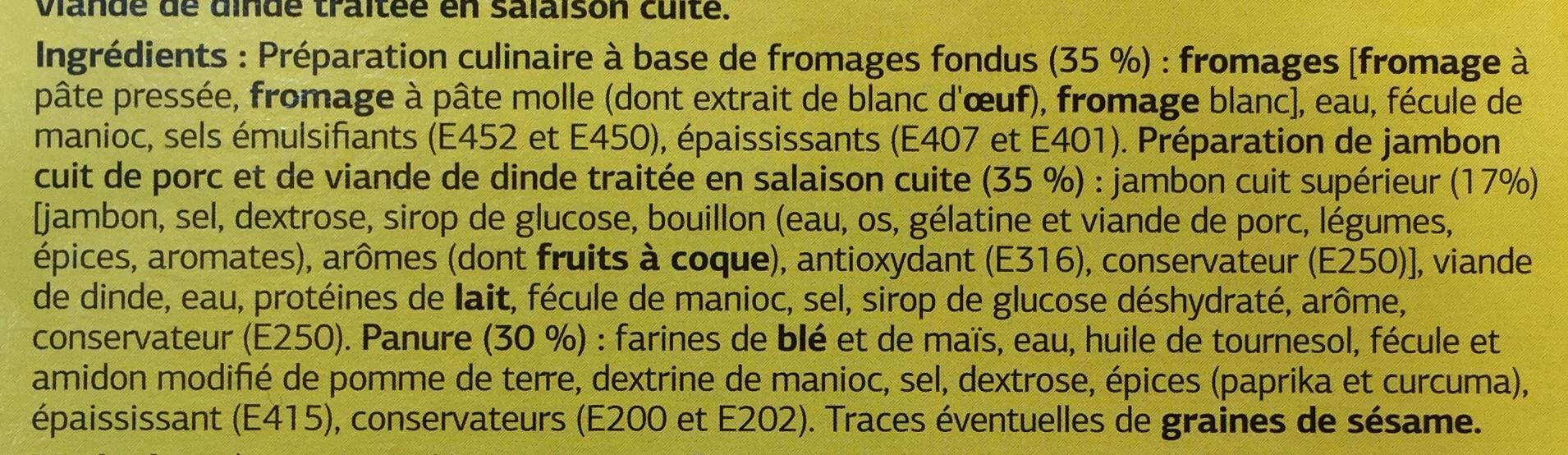 Croustillant aux 3 fromages et jambon - Ingrédients