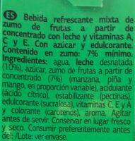 Zumo y leche tropical - Ingredientes - es