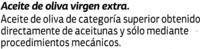 "Aceite de oliva virgen extra ""Dia"" - Ingrediënten - es"