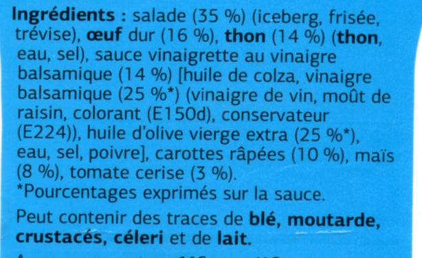 Salades thon crudités - Ingrediënten