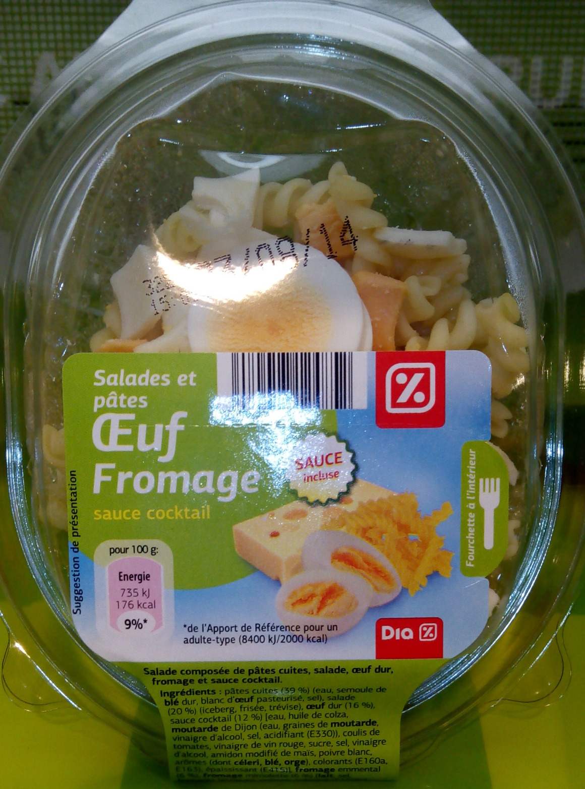 Salades et pâtes oeuf fromage - Product