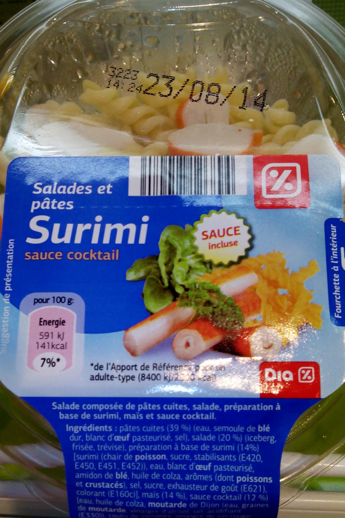 Salades et pâtes Surimi, sauce cocktail - Produit - fr