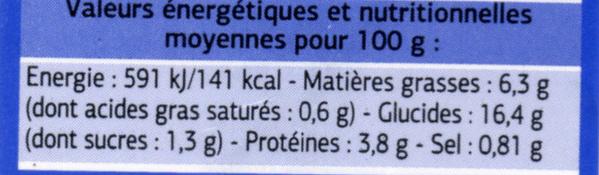 Salades et pâtes Surimi, sauce cocktail - Informations nutritionnelles - fr