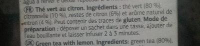 Te verde al limón - Ingredientes - es