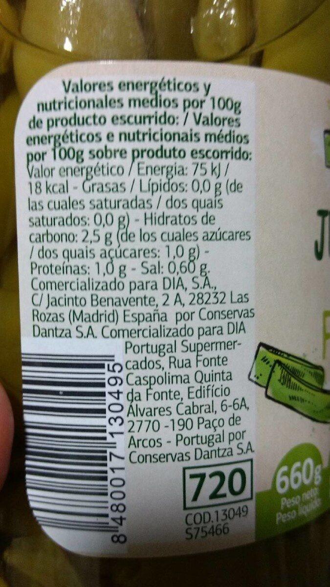 Judía Verde Plana - Informació nutricional