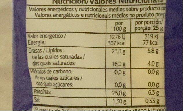 Mozzarella rallada - Informations nutritionnelles - fr