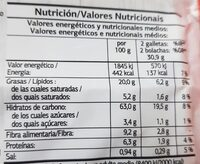 cookies - Informació nutricional - fr