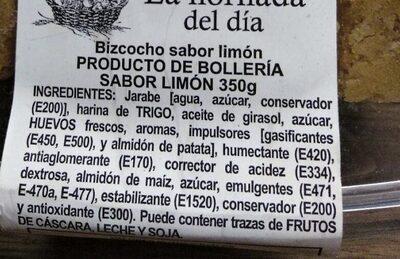 Bizcocho sabor a limón - Ingredients