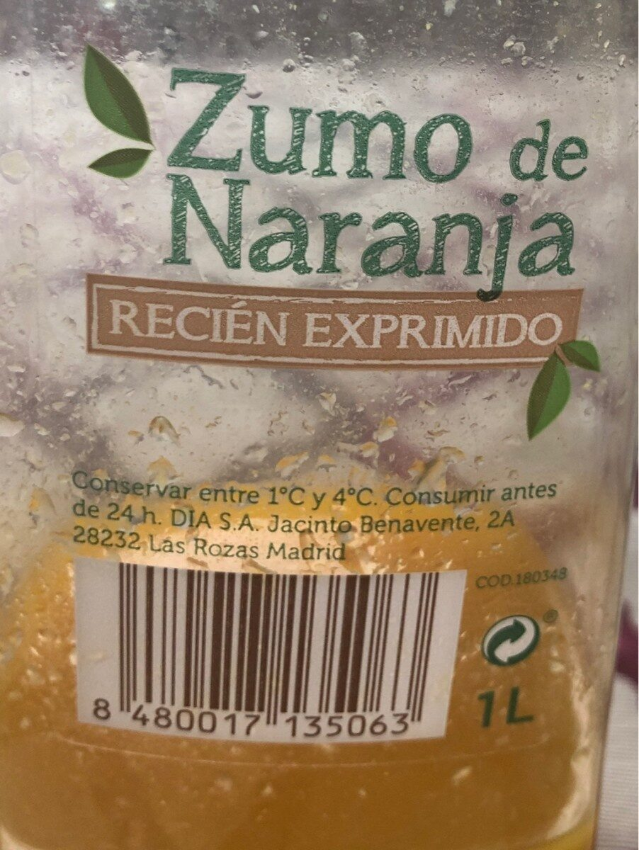 Zumo de naranja - Ingredientes - es