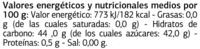Mermelada de ciruela y kiwi - Informations nutritionnelles