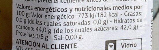Mermelada de ciruela y kiwi - Informations nutritionnelles - es
