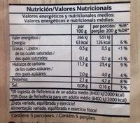 Ensaladilla - Información nutricional