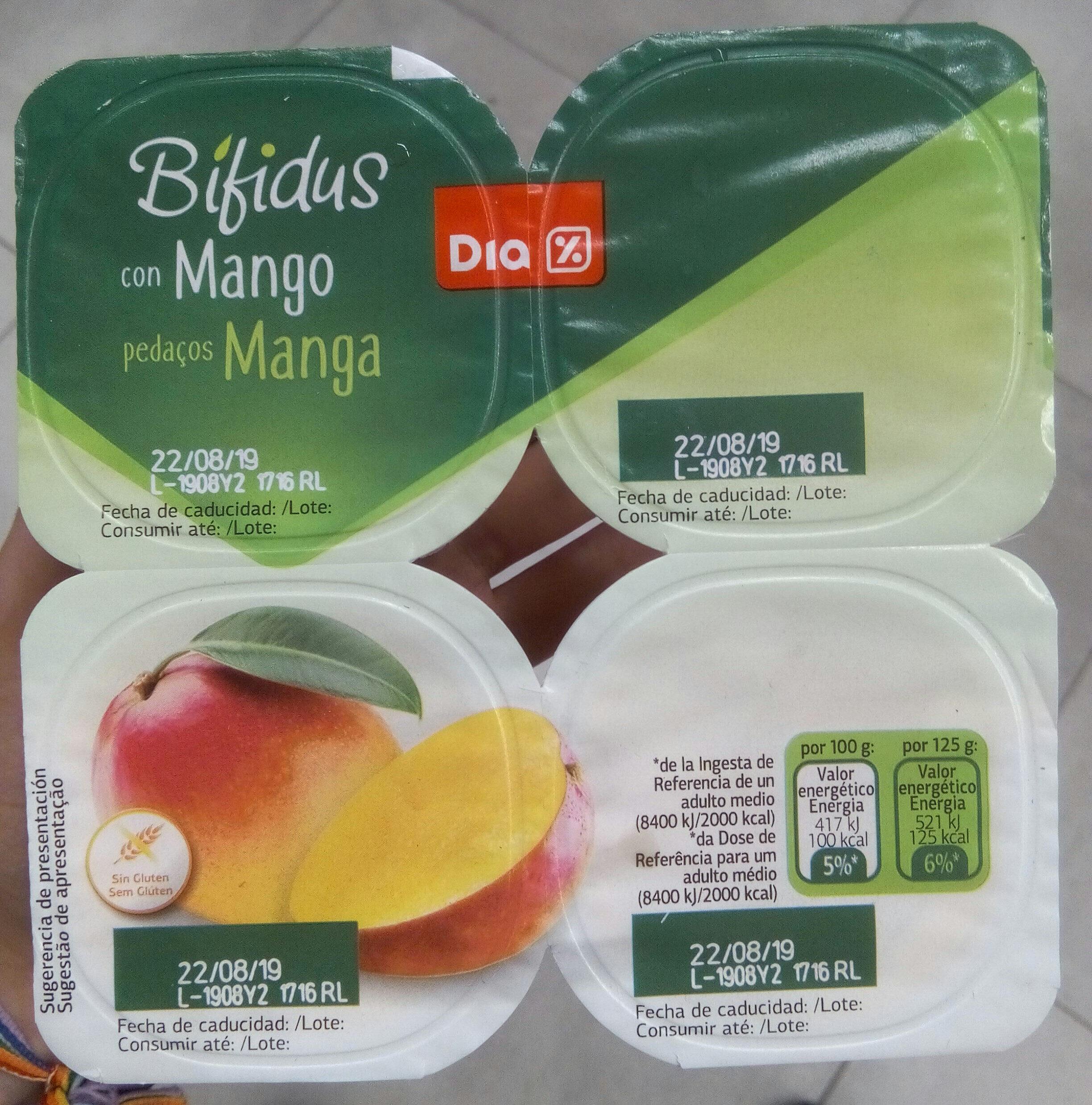 Bifidus pedazos mango - Producte - es