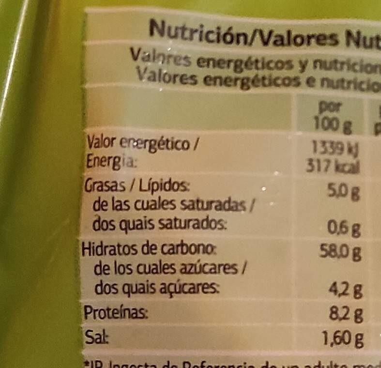 Bases de pizza - Valori nutrizionali - es