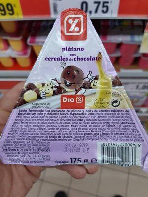Plátano con cereales de chocolate - Produit