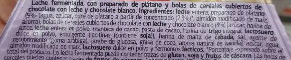 Plátano con cereales de chocolate - Ingrédients - es