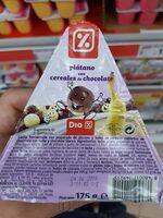 Plátano con cereales de chocolate - Ingrédients