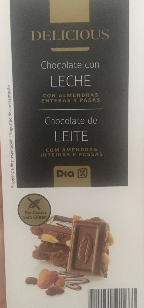 Chocolate con leche almendras enteras y pasas - Product
