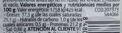 Queso de cabra con pimentón de La VERA - Nutrition facts