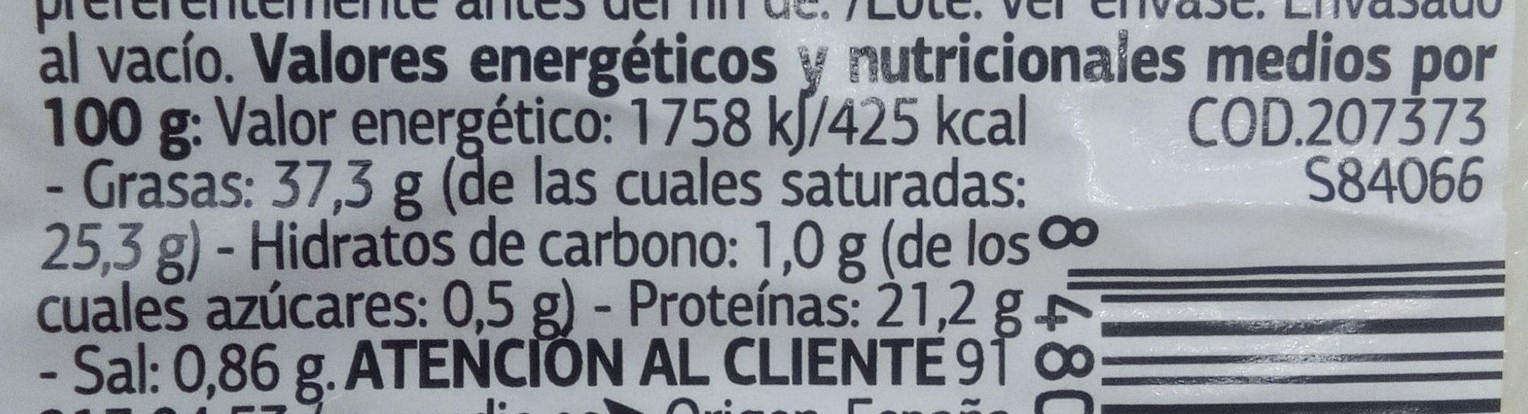 Queso de cabra con pimentón de La VERA - Nutrition facts