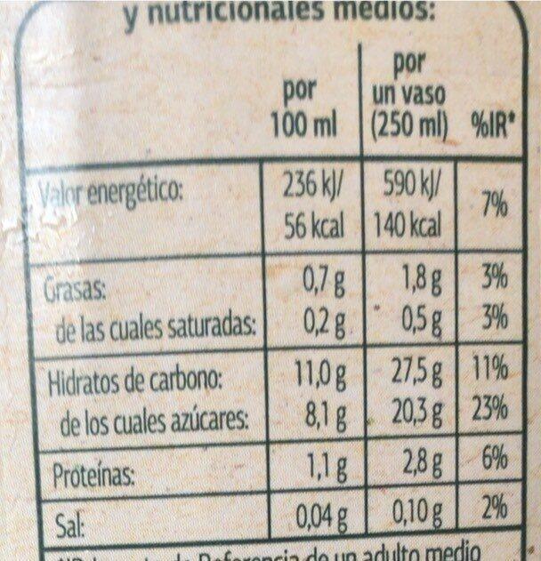 Bebida de Avena - Valori nutrizionali - es