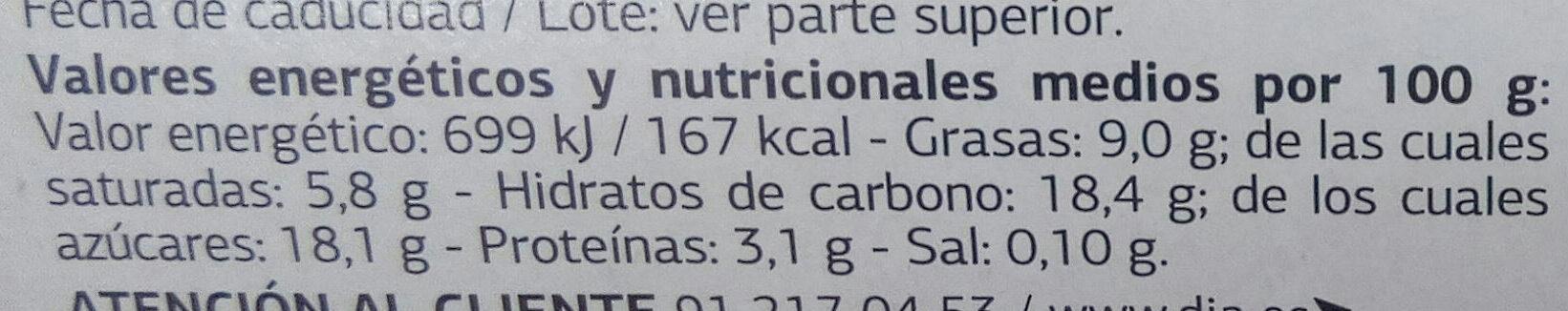 Yogur estilo Griego con Miel - Información nutricional - es
