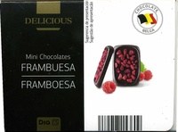 Mini chocolates con frambuesa - Producte