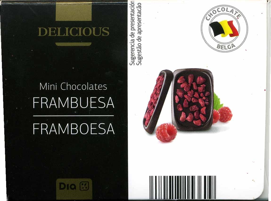 Mini chocolates con frambuesa - Produit - es