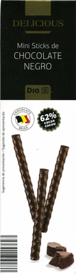 Delicious mini sticks de chocolate negro 62% cacao - Produit - es