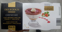 Delicious - Cheesecake con marmelada de fresa y galleta - Producte - es