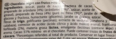 Chocolate negro con frutos rojos DIA - Ingredients - es